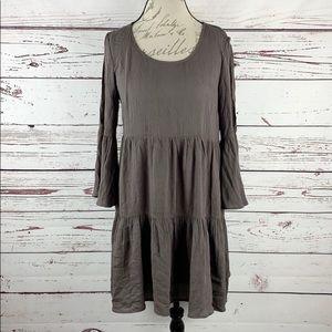 ENTRO | Cold Shoulder Lace Back Tier Peasant Dress